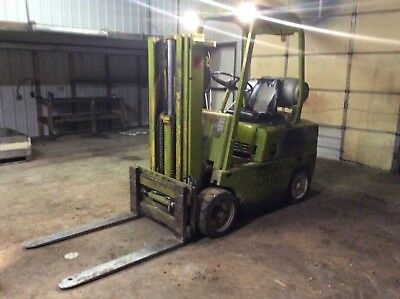 Clark Forklift.  Triple mast. Side shift. Lp Gas. Unusually Clean.