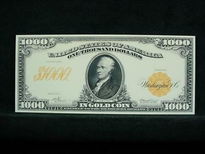NobleSpirit NO RESERVE {3970} ABN Archive $1,000 Gold Cert. Uniface Trial Proof