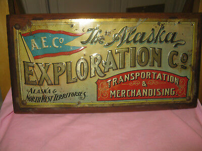 1895 ALASKA EXPLORATION COMPANY sign