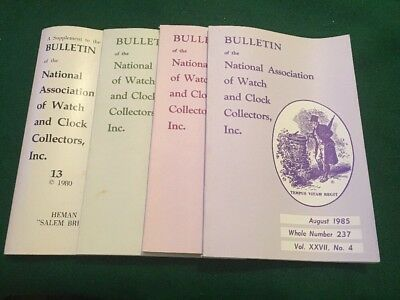 4 Bulletin of the National Association of Watch and Clock Collectors