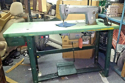Mod 281 Singer Commercial Industrial Sewing Machine w/ Table Single Stitch 110v