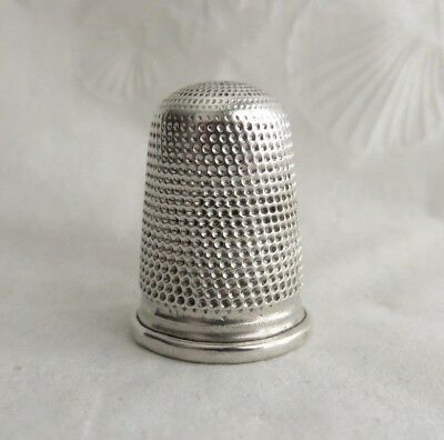 ANTIQUE 1800s STERLING SILVER THIMBLE HAS PIN HOLES
