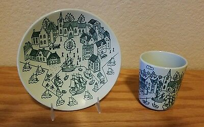Vintage NYMOLLE Cup and Saucer by Paul Hoyrup Made in Denmark 1950's