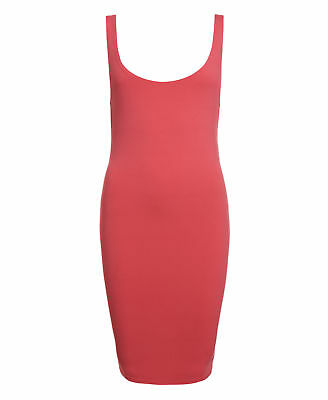 New Womens Superdry Factory Second Body Con Dress Strawberry Pink