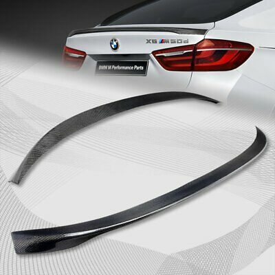 For 2015-2017 BMW F16 X6 Performance Real Carbon Fiber Rear Trunk Spoiler Wing