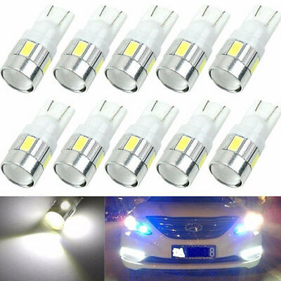10pcs T10 W5W 5630 6-SMD 12V  LED Car Side Light Bulb Wedge Lamp 168 194 192 158