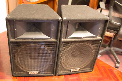 "Yamaha 115IV 8-ohm 500W/1000W PA Stage Monitors Speakers 15"" woofers"