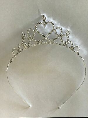 Princess Crystal Pearl Crown Diamond Tiara