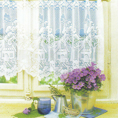 Window Lace Curtain Voile Net Curtains Tier Curtain Half Valance Blind 160x30cm
