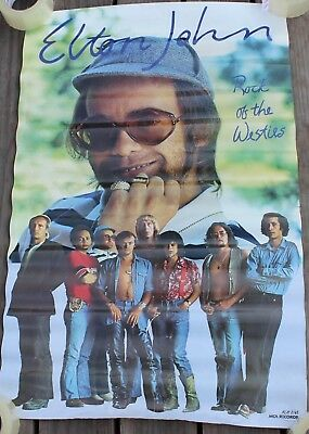Vintage Elton John Rock of the Westies Album Promo Poster MCA Records 34x22""