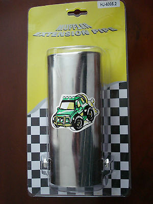 Chrome Universal Exhaust Pipe Tip Trim - Stainless Steel - Brand New In Packet