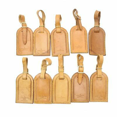 Authentic Louis Vuitton Name Tag Name Tag Set of 10 Pieces Leather 25698