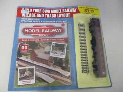 Hachette Your Model Railway Village Issue # 1 with Carriage & Track 00 Gauge NEW