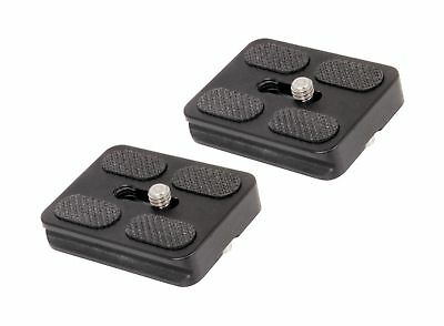 SET OF 2 Replacement Quick Release Plates for the Benro A0350Q0T MeFoto Backp...