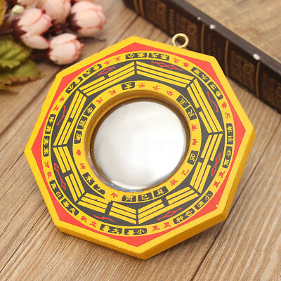 "4"" Retro Chinese Feng Shui Dent Convex Bagua Mirror Lucky Bless House Protection"