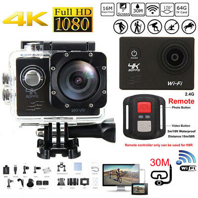 2Inch Waterproof 4K Wifi HD 1080P Ultra Sports Action Camera DVR Cam Camcorder C