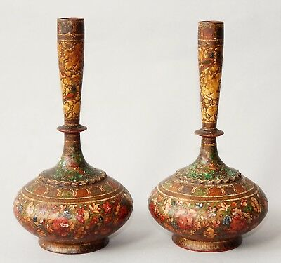 Pair Indian Kashmir Vases 19th century