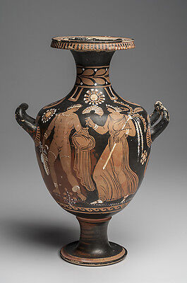 Ancient Apulian South Italian Red-Figure Pottery Hydria Ca. 350 B.C.