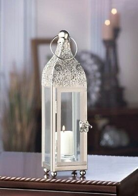 Stunning Ornate Carved Details at Top Candle Lantern Centerpiece