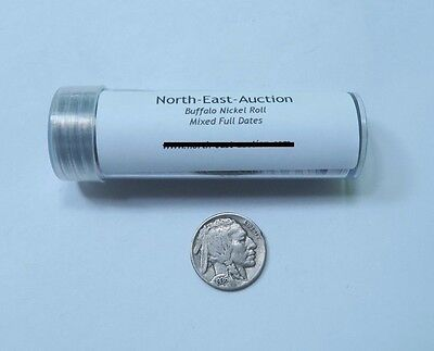 (40) Mixed FULL Date Buffalo Nickel Roll // Mixed Date+Mint // 40 Coins. + BONUS