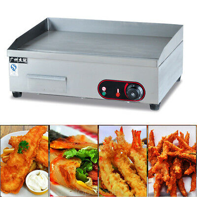 Electric Griddle Cooktop Grill BBQ Hot Plate Burger Grill Fryer Stainless Steel