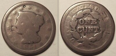 1851 Large Cent with Altered and Obscene reverse...done during civil war?