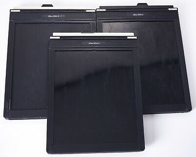 3 Lisco Regal II 8x10 film holders.  Clean and light-tight