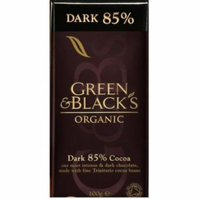 Green & Black's Organic Dark Chocolate  85% Cocoa  100 g