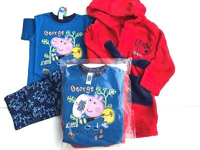 BOYS GEORGE/PEPPA PIG x store pyjamas and dressing gown sets - £8.99 ...
