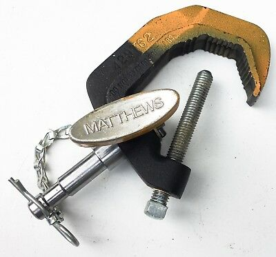 """Matthews Baby Pipe Clamp. 5/8"""" stud with safety cotter pin. Excellent condition."""