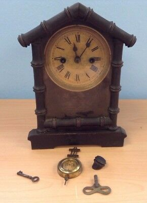 Vintage H.A.C Wooden Mantel Clock - Day Strike - Restoration Project