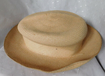 Vintage Genuine Panama straw hat in need of repair EXTRA SMALL 52-53 cm XS