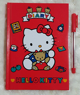 1991 Hello Kitty Vintage Sanrio Diary Book with Pen and Stickers