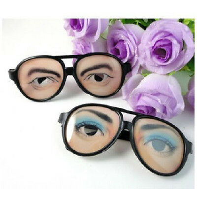 New HALLOWEEN PARTY Funny Glasses Fake Novelty Gag Prank Eye Ball Joke QH