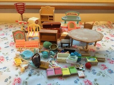 Sylvanian Families Job Lot / Bundle of Furniture and Accessories
