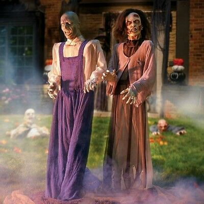 Halloween Props Decorations Zombies Life Size Animated Scary Couple Outdoor Yard