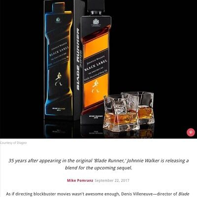 Johnnie Walker Blade Runner Rare Limited Edition New Sold Out