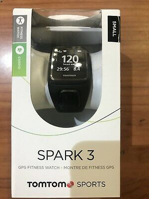 TomTom Spark 3 Cardio GPS Watch - Black. Small Heart rate HR