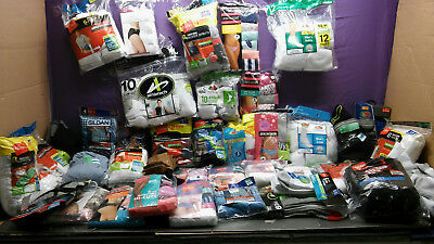 40 Packages of Woman's and Men's Socks Underwear & Boxers Hanes Joe boxer & more