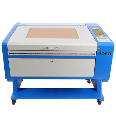 50W CO2 Laser Engraving Machine Engraver Cutter w/ Auxiliary Rotary + CNC ROTARY