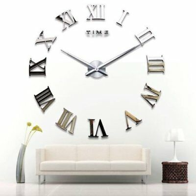 yosoo diy 3d horloge murale design g ante grande taille moderne ronde avec eur 25 99. Black Bedroom Furniture Sets. Home Design Ideas