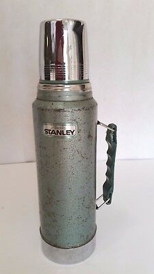 Stanley Aladdin Vintage Metal Thermos and Cup 1 Quart - Model RH94 A-994DH    SH