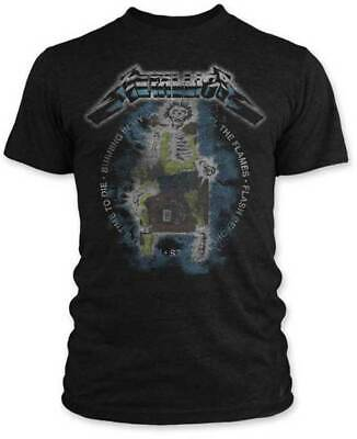 Authentic METALLICA Electric Chair Vintage Slim Fit T-Shirt S-2XL NEW