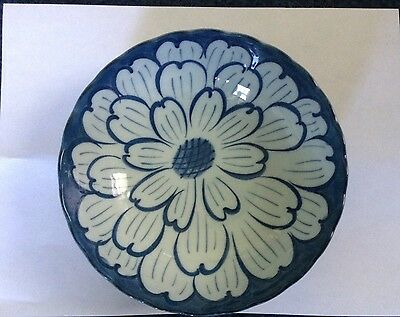 Blue And White Floral Asian Porcelain Bowl