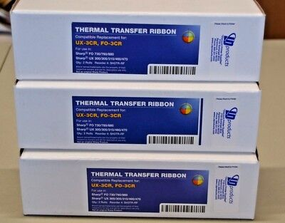 Replacement Thermal Transfer Ribbons For Fax Machines Ux-3Cr, Fo-3Cr (3) 2 Packs
