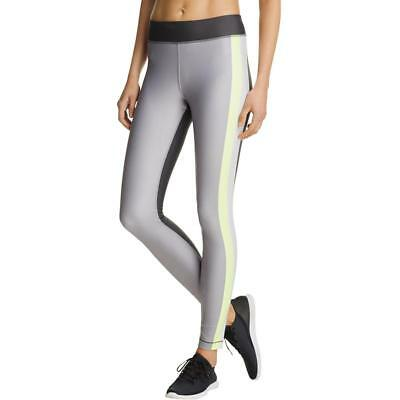 Under Armour 4472 Womens Gray Colorblocked Compression Athletic Leggings S BHFO