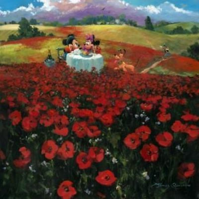 """Red Poppies"" by James Coleman with Mickey and Minnie"