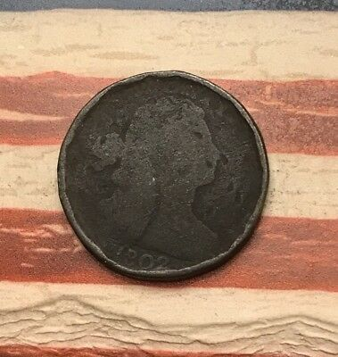 1802 1C Draped Bust Large Cent Vintage US Copper Coin #MP1