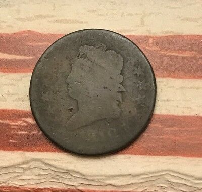 1810 1C Classic Head Large Cent Vintage US Copper Coin #MP2 Better Date