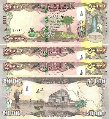 500,000 MINT IRAQ 10 x 50000 = 500000 NEW IRAQI DINAR IQD 2015-CERTIFIED!
